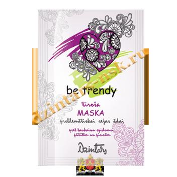 Очищающая маска для проблемной кожи лица от жирного блеска, прыщей и угрей Be trendy