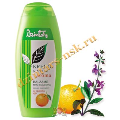 Бальзам-ополаск. для люб. типа волос с апельсин. маслом Kredo Natur