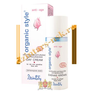 Интенсивно увлажняющий и питающий дневной крем для сухой и чувствит.кожи Organic style anti-age