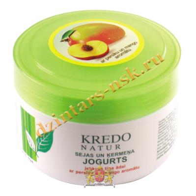 Йогурт для лица и тела для любого типа кожи с ароматом манго и персика Kredo Natur