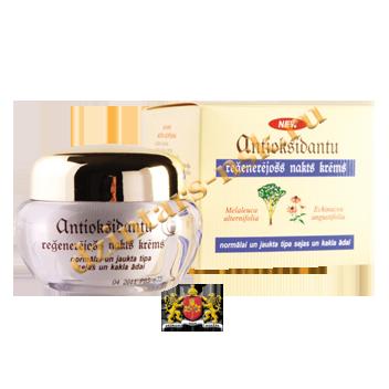 Антиоксидантный ночной регенерирующий крем для нормальной и смешанной кожи
