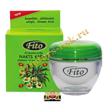 Восстанавливающий ночной крем для нормальной и сухой кожи лица Fito