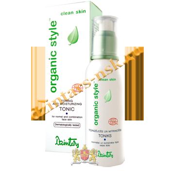 Тонизирующий и увлажняющий тоник для норм. и комб. кожи лица Organic Style Clean skin