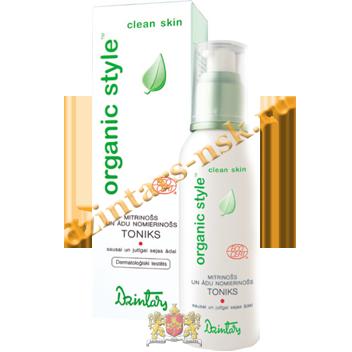 Увлажняющий и успокаив. тоник для сух. и чувств. кожи лица Organic Style Clean skin