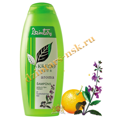 Шампунь для любого типа волос с маслом шалфея мускатного Kredo Natur