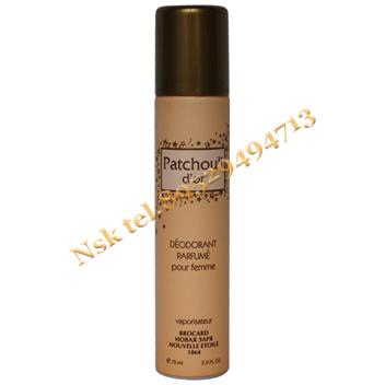 Парфюмированный дезодорант женский «Золотая пачули